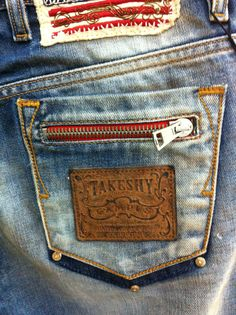 Takeshy's denim Doble Denim, Jeans Pants, Denim Jeans, Denim Art, Leather Label, Pocket Detail, Denim Fashion, Jeans Style, Blue Jeans