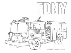 100% Free Truck Coloring Pages. Color in this picture of a Fire ...