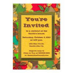 Fall Cookout Invitation
