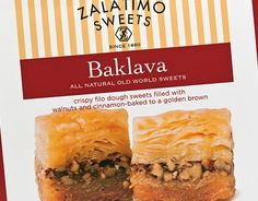 In Mohammad Zalatimo opened a pastry shop in Jerusalem, not far from the Church of the Holy Sepulchre. The shop made favorite middle-eastern sweets like Mamul, Baklava, Barazik and Greibeh.Four generations later, the Zalatimo family sought out MOI … Middle Eastern Sweets, Pastry Shop, Spanakopita, Golden Brown, Behance, Packaging, Baking, Ethnic Recipes, Check