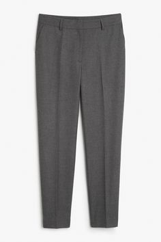 Monki Image 1 of Tapered trousers  in Grey