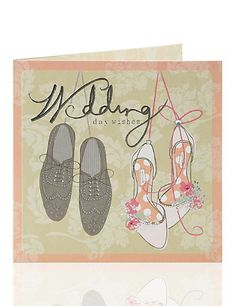 Mr & Mrs Shoes Wedding Day Card Home