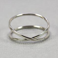 14K Palladium White Gold Infinity Eternity Ring, Unique Wedding Band, sizes 6.25-9 this listing, Sea Babe Jewelry