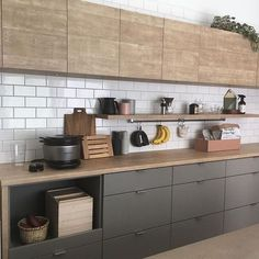 33 Lovely Japanese Kitchen Design Ideas - Asian kitchens are truly elegant and symmetrical in nature because of the fine attention to finish and detail. If you're eying on getting the same cle. Condo Kitchen, Farmhouse Kitchen Decor, Kitchen Remodel, Kitchen Cabinets, Asian Kitchen, Japanese Kitchen, Modern Kitchen Design, Interior Design Kitchen, Kitchen Decor Themes