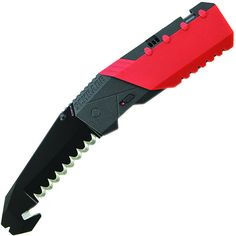 #Schrade: Prof. M.A.G.I.C. Assisted Opening Liner Lock Knife with Double Hollow Ground Fully Serrated Blade with Strap Cutter and Pry Tip #SCHA911R  #RescueKnife #Sales $49.10 In Stock