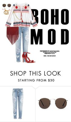 """""""BOHO MODE"""" by neat-to on Polyvore featuring Mode, Dsquared2, MANGO und Schutz"""