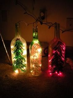Christmas win bottle lights - so doing this next year