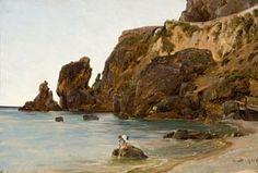 Thomas Fearnley (1802-1842): Gutter på stranden, Amalfi 1833