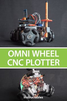 Omni Wheel CNC Plotter Make an XY plotter from three Omni-wheels, three NEMA 17 stepping motors, an Arduino Uno microcontroller, an servo, and an Bluetooth module. Cnc Router Plans, Diy Cnc Router, Cnc Woodworking, Xy Plotter, Linux Raspberry Pi, Arduino Bluetooth, Learn Robotics, Small Cafe Design, Robot Kits