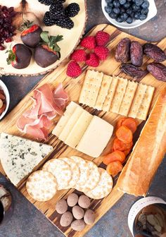 An ultimate sweet and salty Valentine's Day Cheese Board is the way to your love's or best friend's heart. A little sweet, a little savory, and full of variety, perfectly paired with wine. Appetizers For A Crowd, Appetizer Ideas, Fruit Decorations, Serving Tray Wood, Dried Apricots, Milk Recipes, Appetisers, Sweet And Salty, Party Snacks