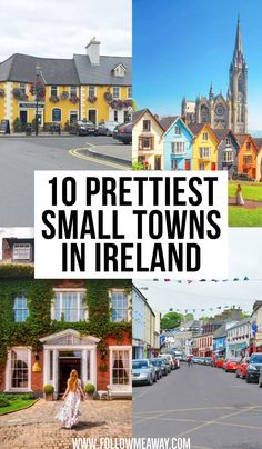 10 Prettiest Small Towns In Ireland + Map To Find Them - Travel Tips Best Of Ireland, Ireland Map, Dublin Ireland, Tourism Ireland, Limerick Ireland, Castle Hotels In Ireland, Castles In Ireland, Ireland Travel Guide, Dublin Travel