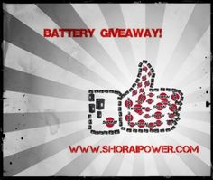 Shorai Battery Giveaway.  Visit us on Facebook: www.facebook.com/shoraibattery to see how to enter or go to our blog: www.blog.shoraipower.com