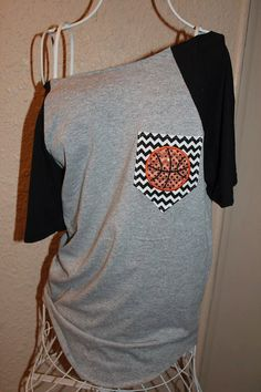 Basketball Pocket Off-the-Shoulder Shirt by SewSnazzybyBrook