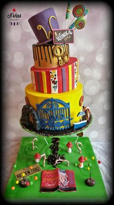 Caker buddies collaboration - bed time story book (Charlie and the chocolate factory) by NehasBakery