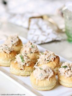 Sesame Chicken Salad in Puff Pastry Cups - Celebrations at Home