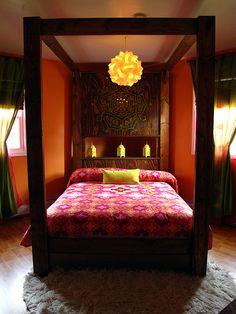 Pretty bedroom decor.