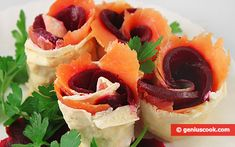 The Rolls with Pita Bread, Salmon and Beetroot Recipe   Salads & Snacks   Genius cook - Healthy Nutrition, Tasty Food, Simple Recipes