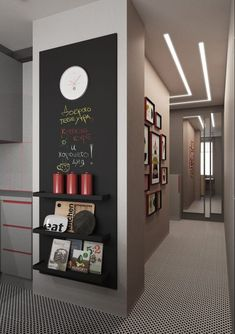 47 impressive minimalist wall art decoration ideas to copy right now 14 Chalkboard Wall Kitchen, Blackboard Wall, Chalk Wall, Magnetic Chalkboard, Magnetic Wall, Chalkboard Paint, Küchen Design, Home Design, Wall Design