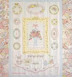 Pieces of the Past Hand Embroidery Quilt Pattern by Crabapple Hill