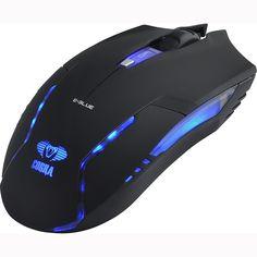 Mouse Gamer USB 1600DPI Cobra II Preto E-BLUE - 52517