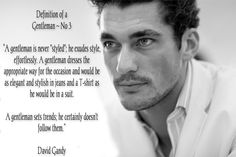 The Definition of a Gentleman   by David Gandy ~ No 3