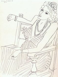 Henri Matisse - 1942, Woman Seated in Armchair. Drawing