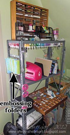 SHELLY'S ART: January 2012- DIY Craft supplies storage