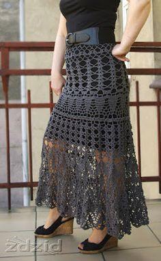 Robótki Zdzichy: Ażurowa szydełkowa spódnica