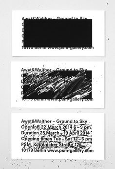 Print / - Awst & Walther - Exhibition Invitation by Studio...