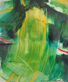 "Wayne Boucher's ""Green II"" - $370, 5.5"" x 7"", 15"" x 15"" framed"