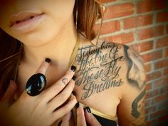Cool tattoo writing