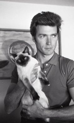 Clint Eastwood with Cat