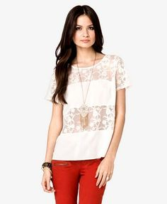Lace Stripe Top, Forever21. Cute for west coast swing dancing