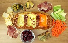 3 cheese fondue bread boat, Red Leicester, cheddar, Camembert