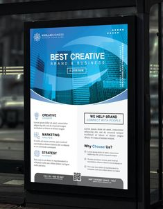 Creative Brand and Business Poster Template PSD Business Poster, Business Branding, Poster Templates, Lorem Ipsum, Concept, Creative, Design, Grief