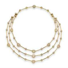 Chopard Ice Cube Diamond Bar Necklace in 18K Gold Rr7QxwkXa