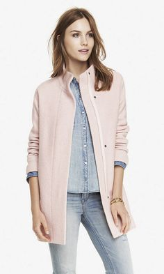 love this pink coat from express! So perfect for a Winter coat!