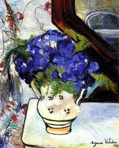 Сюзанна ВАЛАДОН Букет из Пармской фиалки (1928) SUZANNE VALADON Bouquet of Parma Violets (1928)