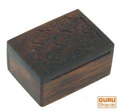 Kleine Holzdose für Maschenmarkierer und Nadeln