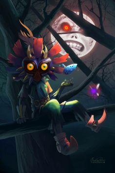 Majoras Mask Dragon Ball Link Zelda The Legend Of Fanart Saga