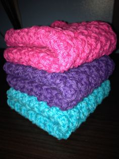 Crochet Washcloths Dishcloths 100 cotton  by HandcraftedHolidays, $8.00