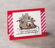 Santa's Sleigh stamp set and matching thinlit dies from Stampin' Up!. Create…