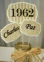 New Cupcakes Wedding Anniversary Party Ideas Ideas 50th Wedding Anniversary Decorations, 60th Anniversary Parties, Golden Wedding Anniversary, Anniversary Ideas, Wedding Decorations, Anniversary Banner, Anniversary Surprise, Parents Anniversary, Table Decorations
