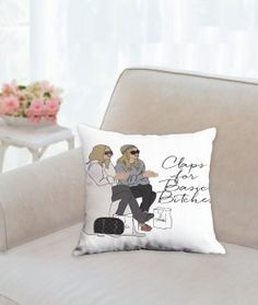 Claps For Basic Bitches Throw Pillow - Olsens - 2 Sided - 3 sizes available - Pop Culture Gifts by PopPastiche on Etsy