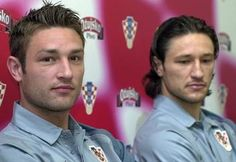 Can't tell who's hotter: The Kovac Brothers, Robert (left) and Niko (right), coaches of the National Croatia Football team. Headline: Kovac Brothers Start Croatia Coaching Career With Win Over Italy