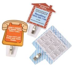 #PROMOTIONAL GIFT - Flexible Magnet with Handy Memo Clip Holder, Printed Full Colour. Various Shape Including, Lorry, Recycle Bin, Phone, Square & House