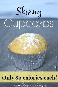 80 Calories Cupcake - The Best Skinny Cupcake Recipe with only 2 ingredients