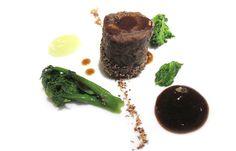 Coda di bue e fegato grasso, liquirizia e sedano - Il Pagliaccio - Roma