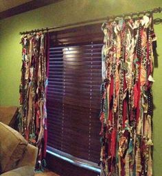 DIY Window Treatments Ideas | DIY / 15 Sew and No-Sew Upcycled DIY Window Treatment Ideas