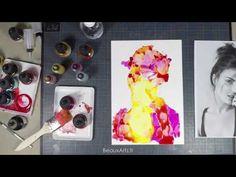 Découverte des encres à alcool sur papier Yupo avec un portrait - BeauxArts.fr